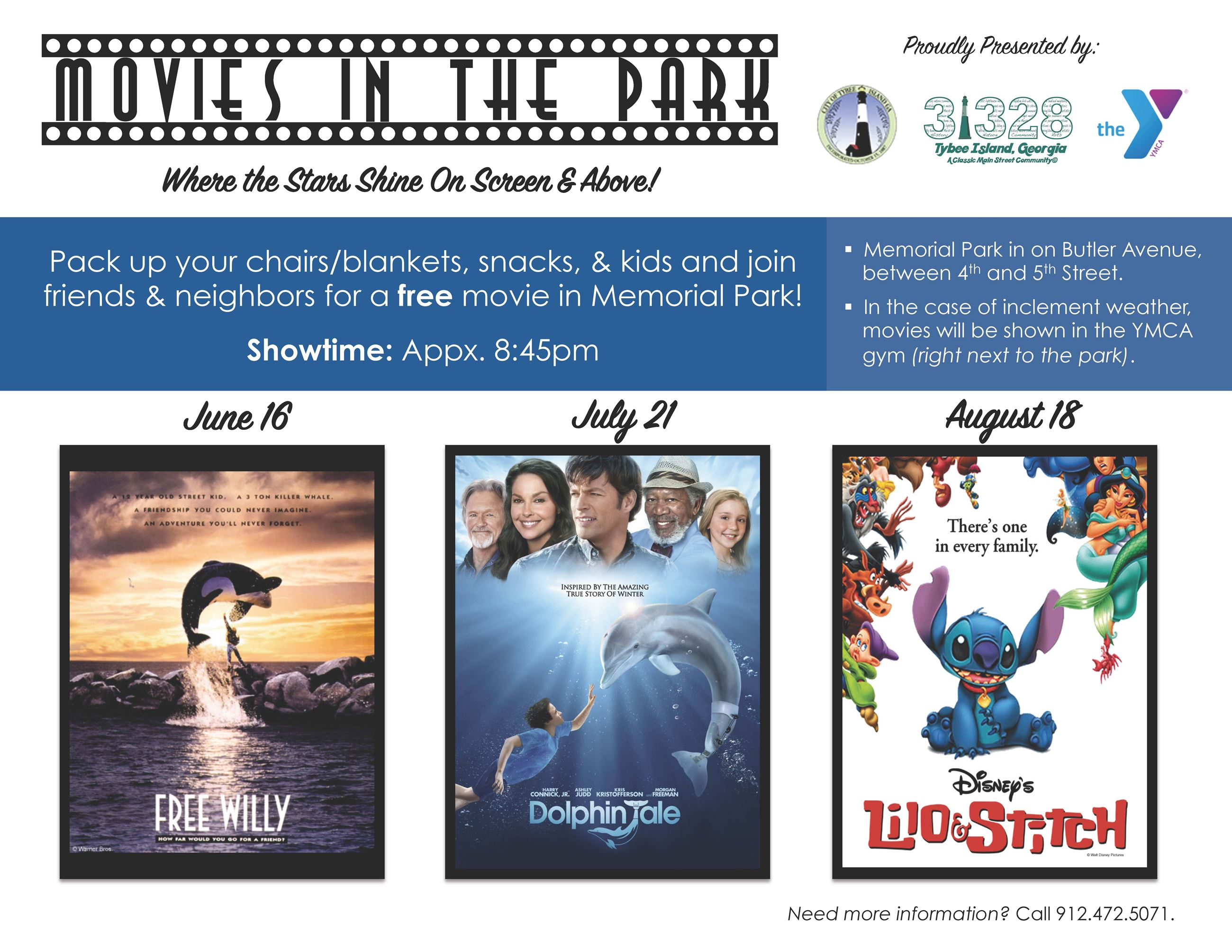 Movies in the Park flyer from CS
