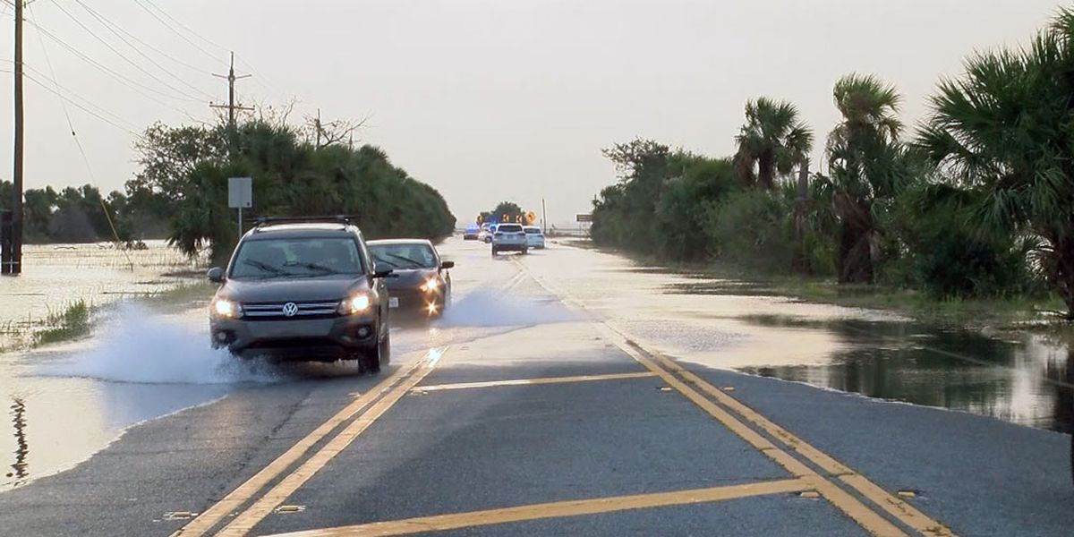 Flooding on Tybee Road