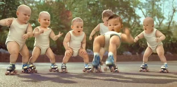 evian roller skating babies picture