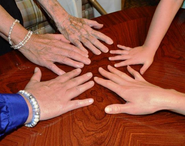 5 Generations of Hands