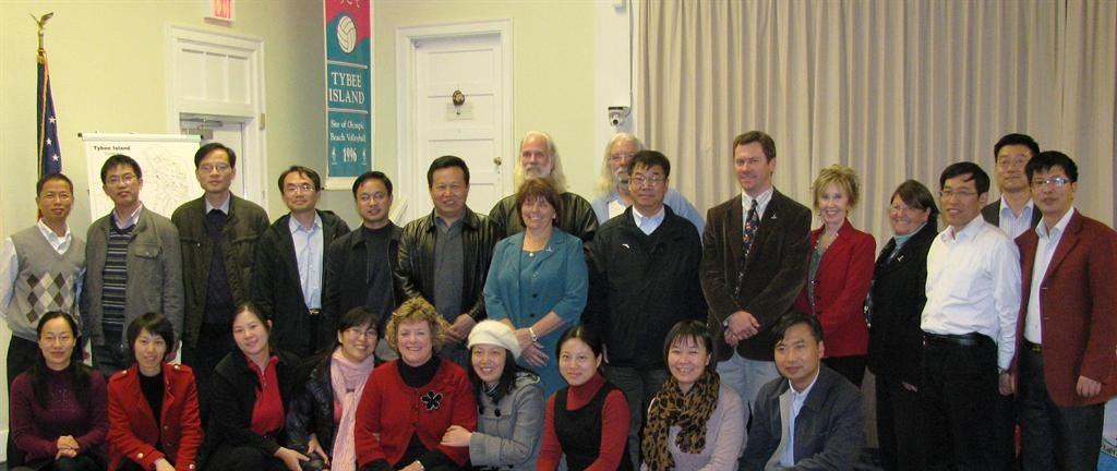 Visitors from the Shanghai Administration Institut